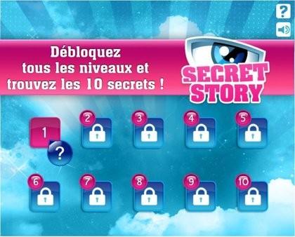 Carte des niveaux Secret Story